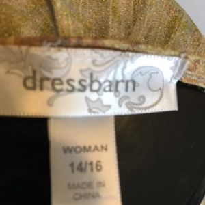 Dress Barn Tops - Dress Barn Gold Beaded Top, size 14/16